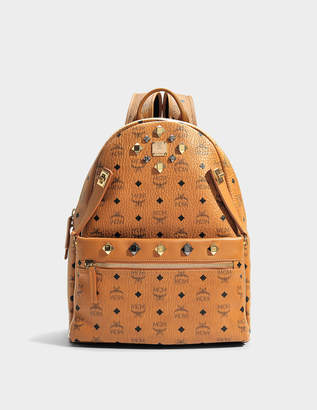MCM Dual Stark Medium Backpack in Cognac Visetos