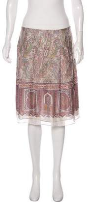 Etro Silk Knee-Length Skirt