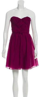 Rebecca Taylor Strapless Crepe Dress