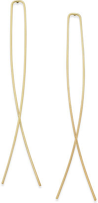 ABS by Allen Schwartz Gold-Tone Looped Threader Earrings $45 thestylecure.com