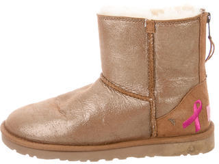 UGG Australia Shiny Classic Ankle Boots $75 thestylecure.com