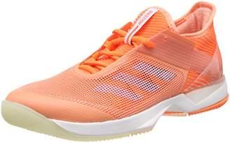 adidas Women's Adizero Ubersonic 3 Tennis Shoes, (Chalk Coral/Aero Blue/Hi-Res Orange 0)