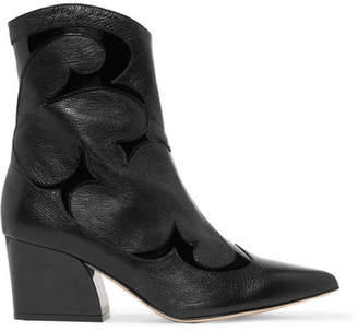 Tibi Felix Patent-trimmed Leather Ankle Boots - Black