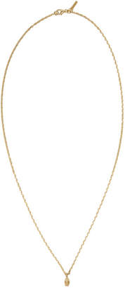 Emanuele Bicocchi SSENSE Exclusive Gold Mini Skull Necklace