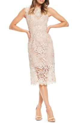 Dress the Population Claudette Crochet Lace Sheath Dress