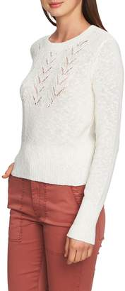 1 STATE 1.STATE Pointelle Jersey Sweater