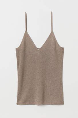 H&M Glittery Camisole Top - Beige