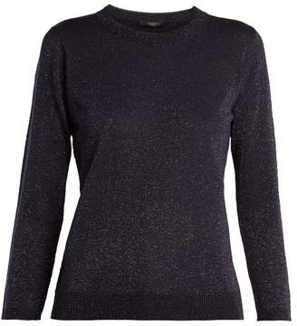 Max Mara Lurex Sweater - Womens - Navy