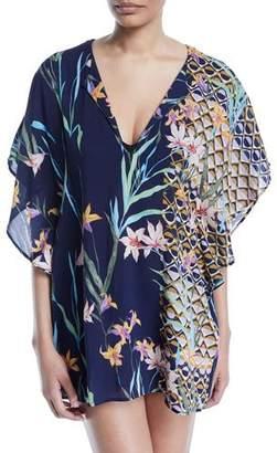 Trina Turk Fiji Floral Coverup Caftan