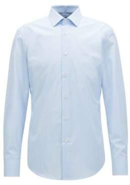 BOSS Hugo Slim-fit shirt in long-staple Egyptian cotton 17 Light Blue