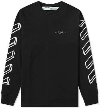 Off-White Off White Long Sleeve Diagonal Marker Arrows Tee
