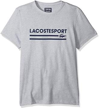 Lacoste Men's Short Sleeve Jersey Tech Graphic T-Shirt