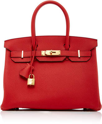 Hermes Heritage Auctions Special Collections 30cm Geranium Togo Leather Birkin