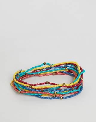 Asos Design DESIGN beaded bracelet pack