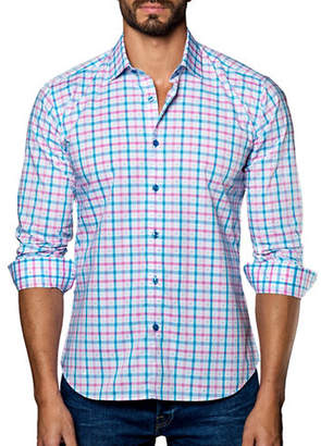 Jared Lang Woven Checked Shirt