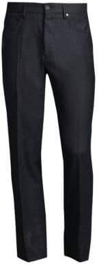 Incotex Moss Panama Wool Trousers