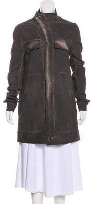Rick Owens Distressed Knee-Length Coat
