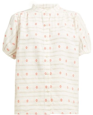 Ace&Jig Aiden Embroidered Cotton Shirt - Womens - Ivory