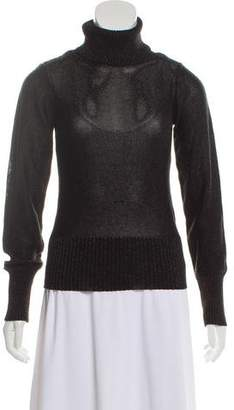 Joseph Metallic Turtleneck Sweater