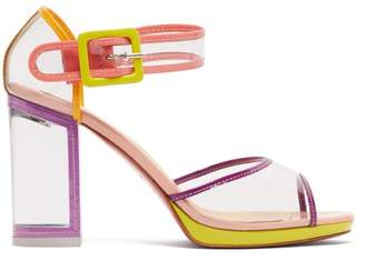 Christian Louboutin Babaclara 100 Patent Leather And Pvc Sandals - Womens - Multi