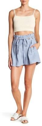 Aiden Grommet Tie Linen Paperbag Shorts