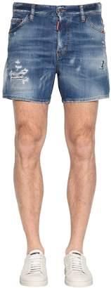 DSQUARED2 28cm Square Crotch Cotton Denim Jeans
