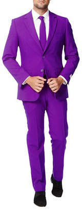 OPPOSUITS Purple Prince Slim-Fit Three-Piece Suit Set