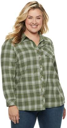 Sonoma Goods For Life Plus Size SONOMA Goods for Life Essential Supersoft Flannel Shirt