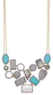 Freida Rothman Crystal & Gemstone Geometric Bib Necklace