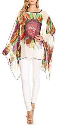 Fashion 123 Superflower Power Poncho