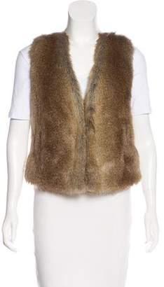 Rachel Zoe Faux Fur Open Front Vest