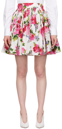 Dolce & Gabbana Multicolor Floral Pleated Flare Skirt