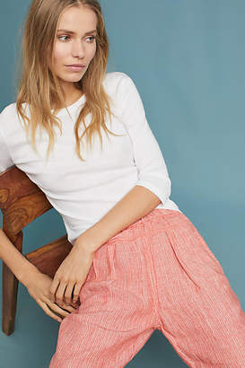 Anthropologie Striped Linen Pants