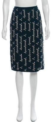 Christian Dior Silk-Blend Embellished Skirt