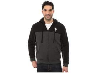 U.S. Polo Assn. Color Block Fleece Hoodie Men's Sweatshirt