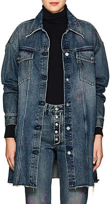 MM6 MAISON MARGIELA Women's Oversized Denim Trucker Jacket - Blue