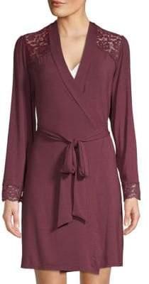 Eberjey Lila Lace-Trimmed Robe