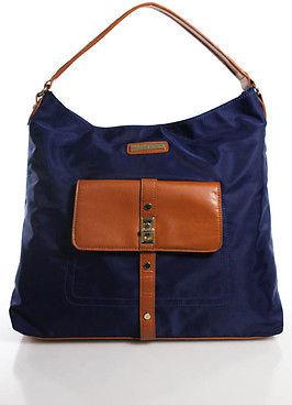 Adrienne Vittadini Blue Tote Shoulder Handbag Size Medium $29 thestylecure.com