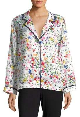 Lord & Taylor Design Lab Floral Pajama Top