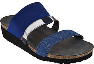 Naot Footwear Leather Triple Strap Slide Sandals -Brenda