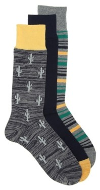 Cole Haan Cactus Men's Crew Socks - 3 Pack