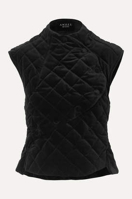 A.W.A.K.E. Mode Secret Shield Quilted Velvet Top - Black