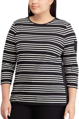 Chaps Plus Size Stripe Top