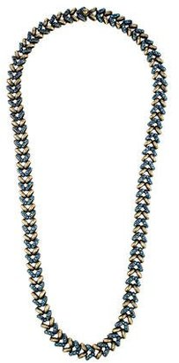 Giles & Brother Braided Crystal Necklace $125 thestylecure.com