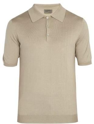 Kilgour - Silk Blend Polo Shirt - Mens - Beige