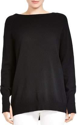 Halston Merino Wool & Cashmere Tie-Back Sweater