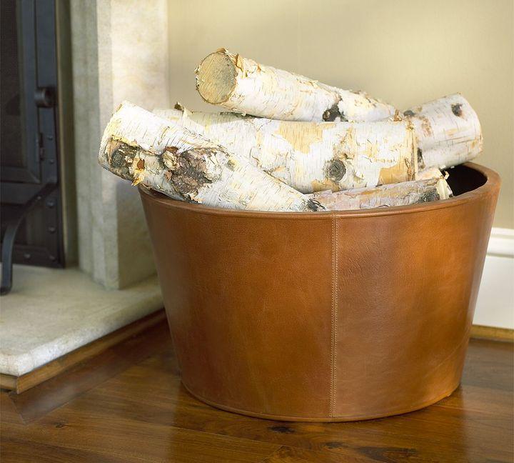Leather Log Bucket