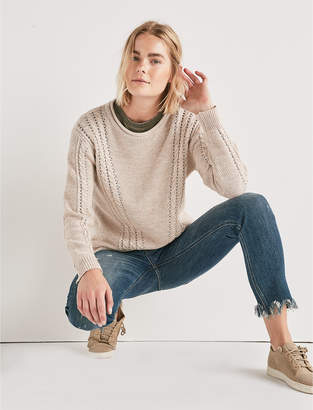 Lucky Brand V CABLE KNIT SWEATER