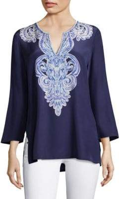 Lilly Pulitzer Renato Dinner Silk Tunic