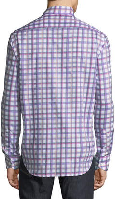 Tailorbyrd Checkered Button-Down Sport Shirt